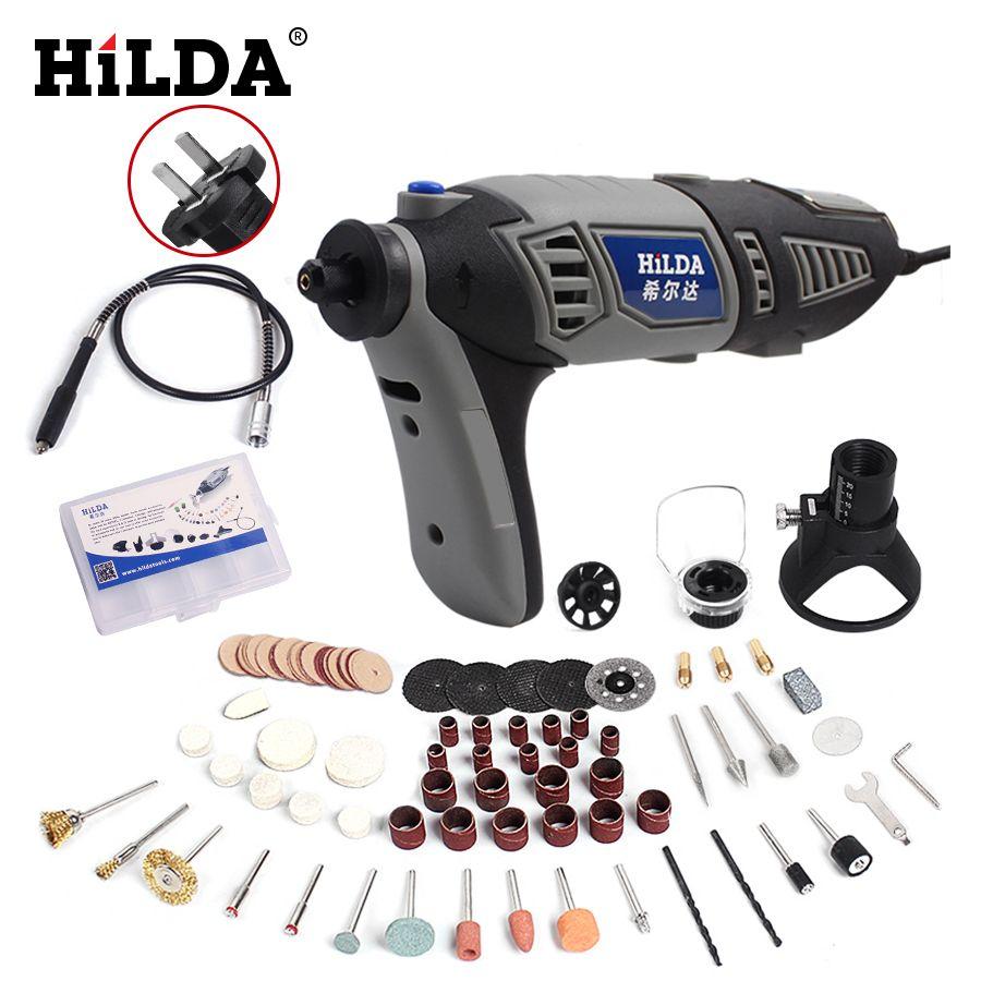 HILDA 180 W Électrique Mini perceuse À Vitesse Variable Outil Rotatif Pour Dremel Mini meuleuse électrique accessoires Dremel forage machine