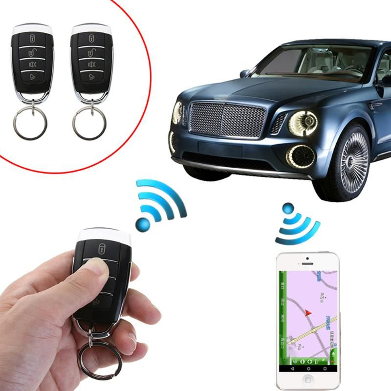Car Alarm Systems Car Auto Remote Central Kit Door Lock Locking Vehicle Keyless Entry System With Remote Controllers Universal