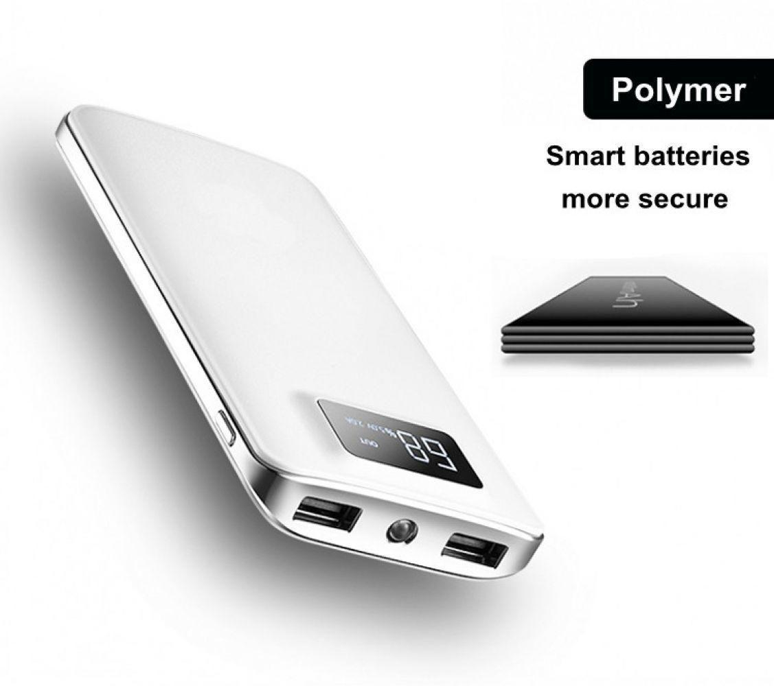30000 mah Puissance Banque Batterie Externe LCD Écran Affichage Portable Double USB Ports Téléphone Chargeur Pour iPhone Tablet Téléphone