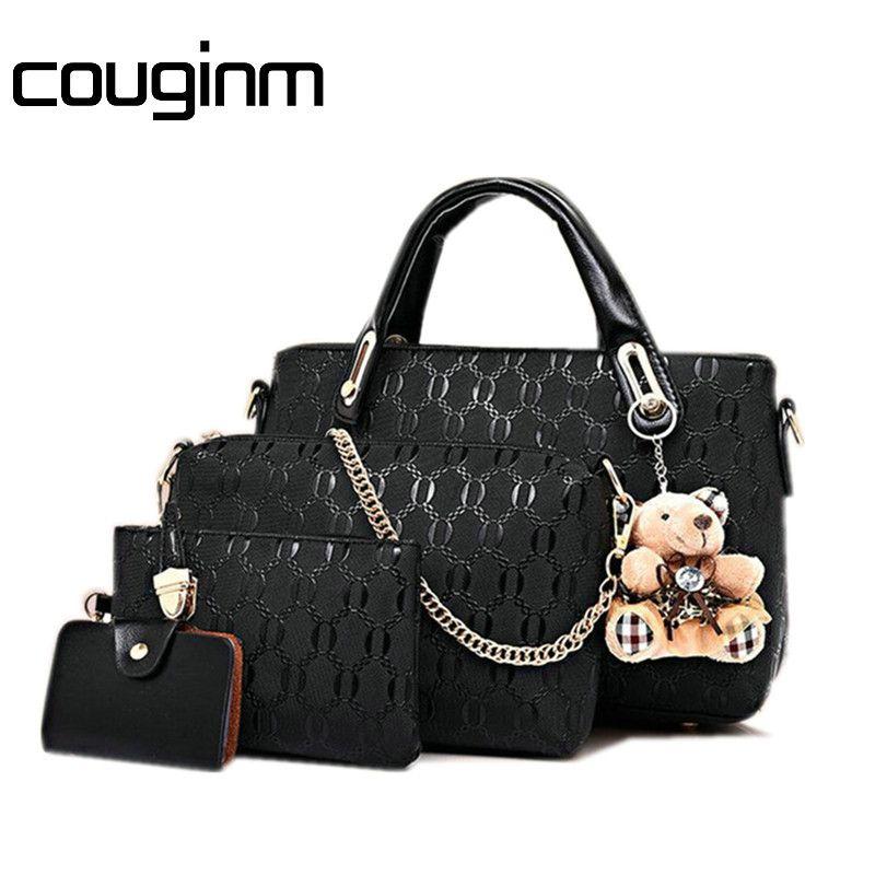 COUGINM Famous Brand Women Bags Fashion Women Messenger Bags And Handbag Sets PU Leather Composite Designer Handbags Hot Sale