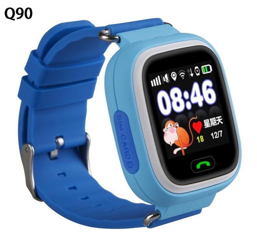 Q80 Q90 детей Безопасности Anti потерял GPS Трекер Смарт-часы для детей SOS аварийного для Iphone и Android SmartWatch
