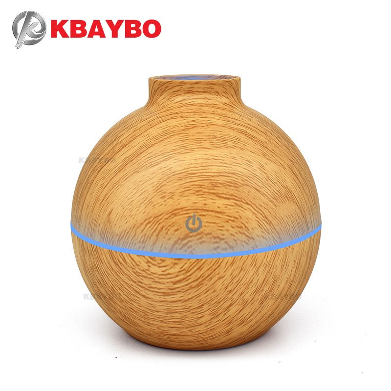 USB Aroma Essential Oil Diffuser Ultrasonic Cool Mist Humidifier Air Purifier 7 Color Change LED light for Office Home 130ml