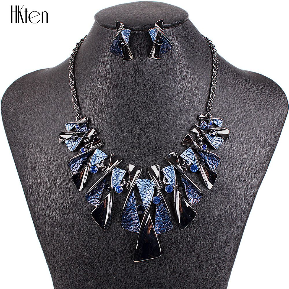 MS17316 Hot Sale Brand <font><b>Jewelry</b></font> Sets Classic Design Bridal <font><b>Jewelry</b></font> Woman's Necklace Set High Quality 5 Colors Party Gifts