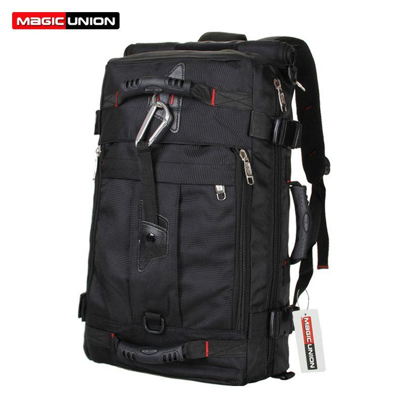 Magic Union Marca Diseño hombres Bolsas de viaje moda hombres mochilas multiusos de los hombres viaje mochila multifunción bolso de hombro