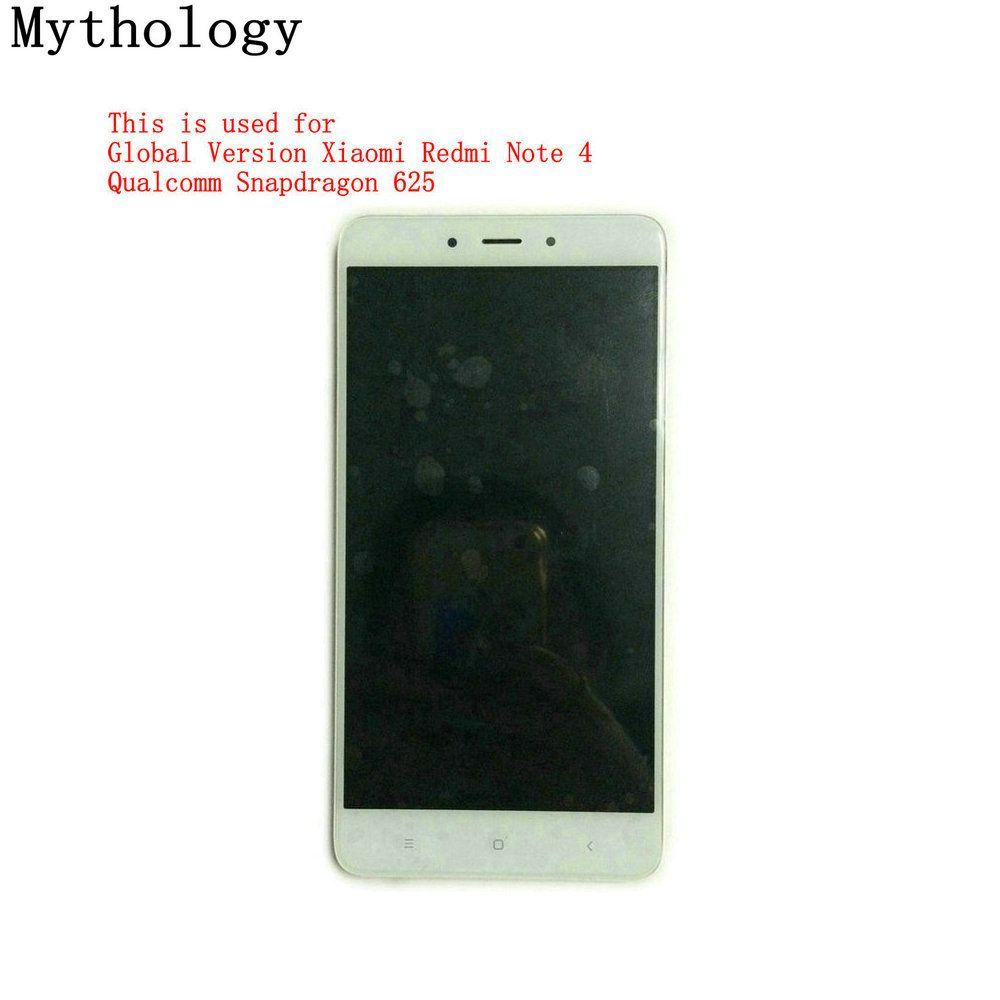 La mythologie Tactile écran D'affichage pour Xiaomi Redmi Note 4 Snapdragon 625 Mondial Version/MTK Helio X20 version mobile téléphone LCD