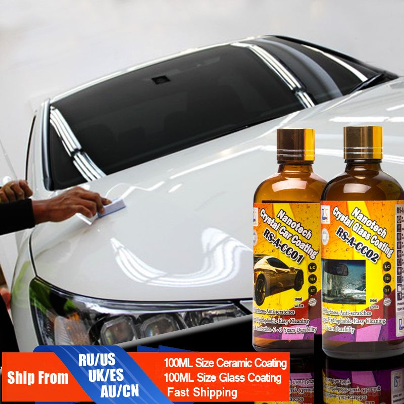 Rising Star RS-A-CC0102 Liquid Glass Nano Hydrophobic Ceramic Car Care Coating Crystal Car & Glass Coating 200ml Kit for DIY use