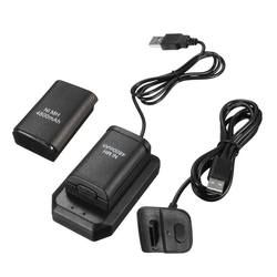 2 Batteries+1 Charger+1 Usb Cable Charging Kit For Xbox 360 Battery Wireless Controller 4800mAh Rechargeable Battery Pack