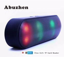 Abuzhen Bluetooth Динамик светодиодный Портативный Беспроводной Динамик мини звука Системы 3D стерео музыка MP3 плеер объемный Поддержка TF AUX USB