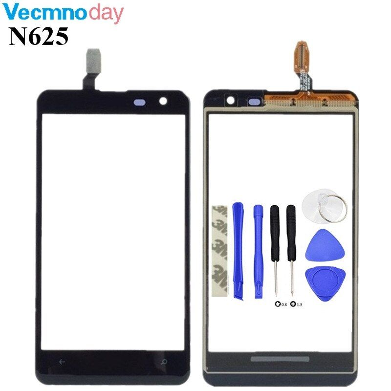 Vecmnoday High Quality Touchscreen 4.7'' For Nokia Lumia 625 N625 Touch Screen Digitizer Sensor Front Glass Lens panel + tools