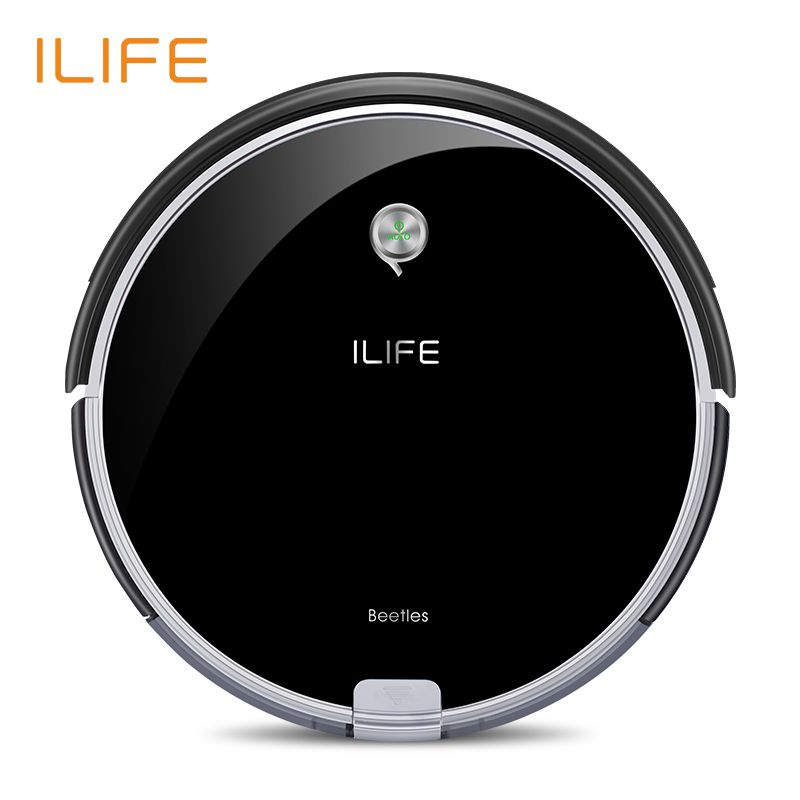 ILIFE A6 <font><b>Robotic</b></font> Vacuum Cleaner with Piano Black,Miniroom Function