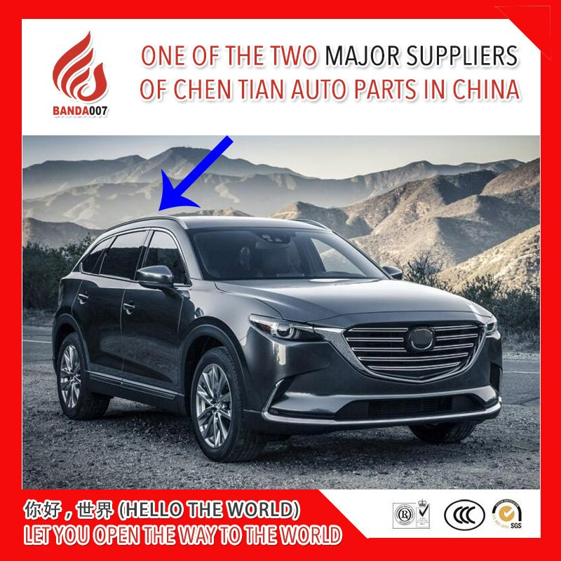 Black silver color Aluminium alloy screw install side rail bar roof rack for Mazda CX-9 cx9 2016 2017 2018 16 17 18