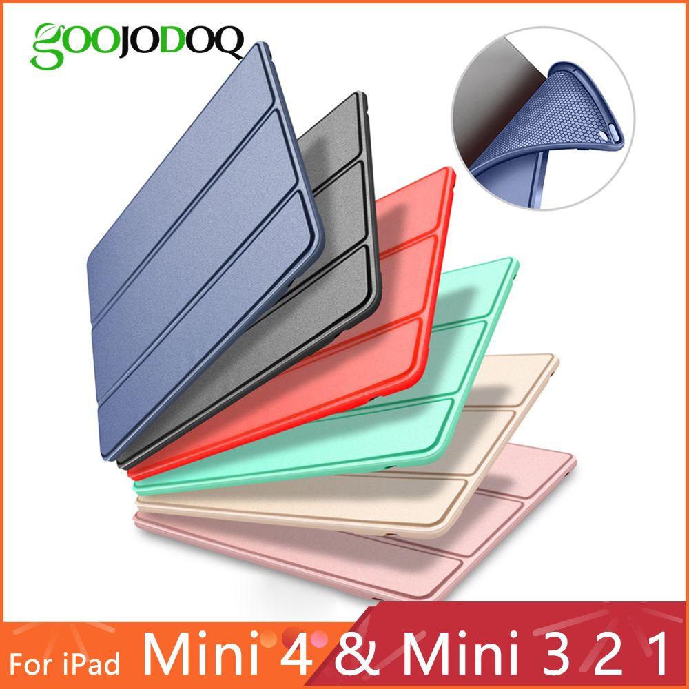 Cas pour iPad Mini 4 3 2 1 Cas PU En Cuir Silicone Souple Retour Trifold Stand Veille Automatique Smart Cover pour iPad Mini 2 Cas Funda