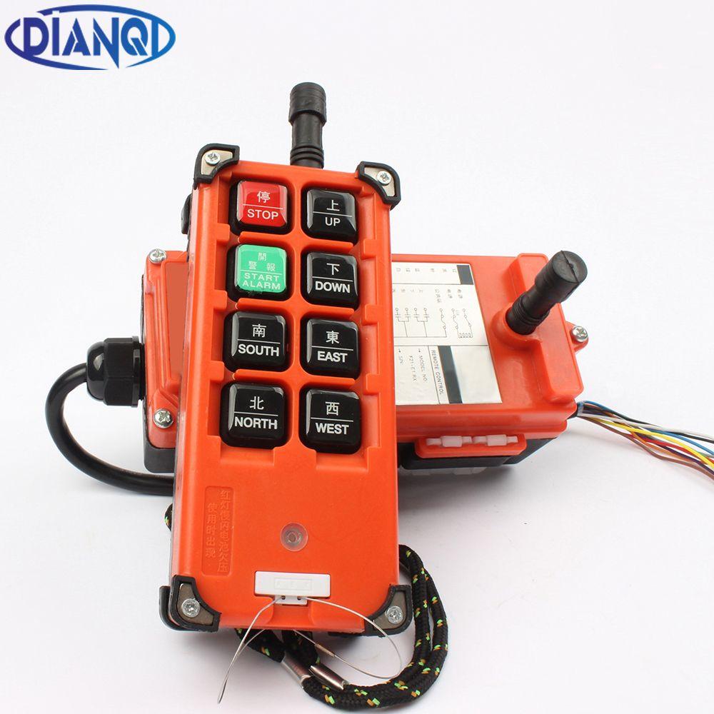 AC 220V 110V 380V 36V DC 12V 24V 48V <font><b>Industrial</b></font> remote controller Hoist Crane Control Lift Crane 1 transmitter + 1 receiver