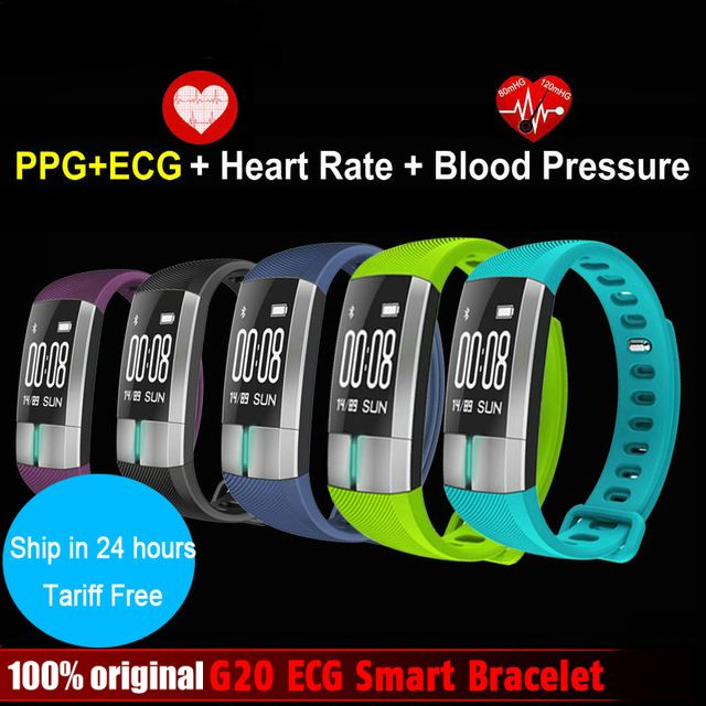 Smarcent G20 ECG Real-time monitoring Blood pressure Heart Rate sport Smart Fitness Bracelet watch intelligent Activity Tracker