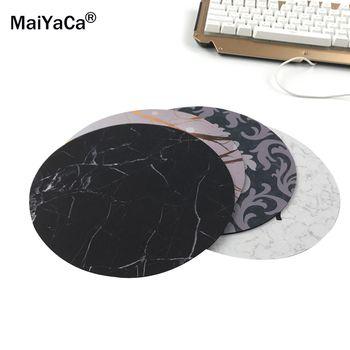 MaiYaCa Nouvelle Petite Taille Ordinateur de bureau Jeu Marbre lignes Souris Pad Non-Skid Caoutchouc Pad20x20cm et 22x22 cm Tapis de Souris