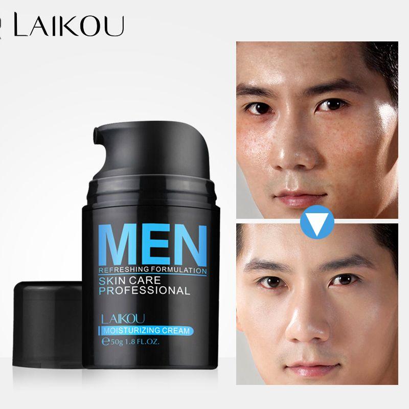 LAIKOU Acide Hyaluronique Crème Pour Le Visage Huile contrôle Hommes Ascenseur Anti-Rides Raffermissant Rétrécir Les Pores Acné Crème de Jour Hydratante blanchiment