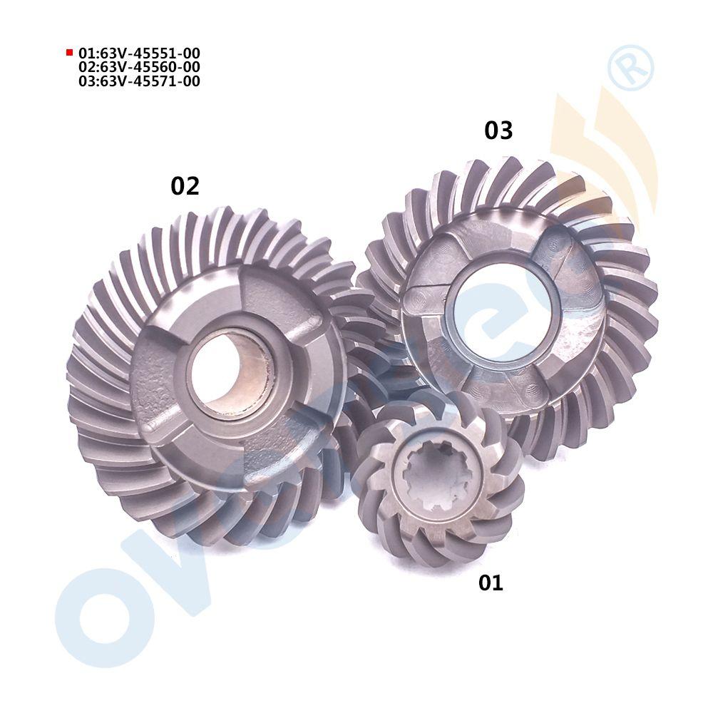 63V Gear Kit For Yamaha 15HP 9.9HP Outboard Motor 6E7-45560 6E7-45571 63V-45551 9.9E 15E series