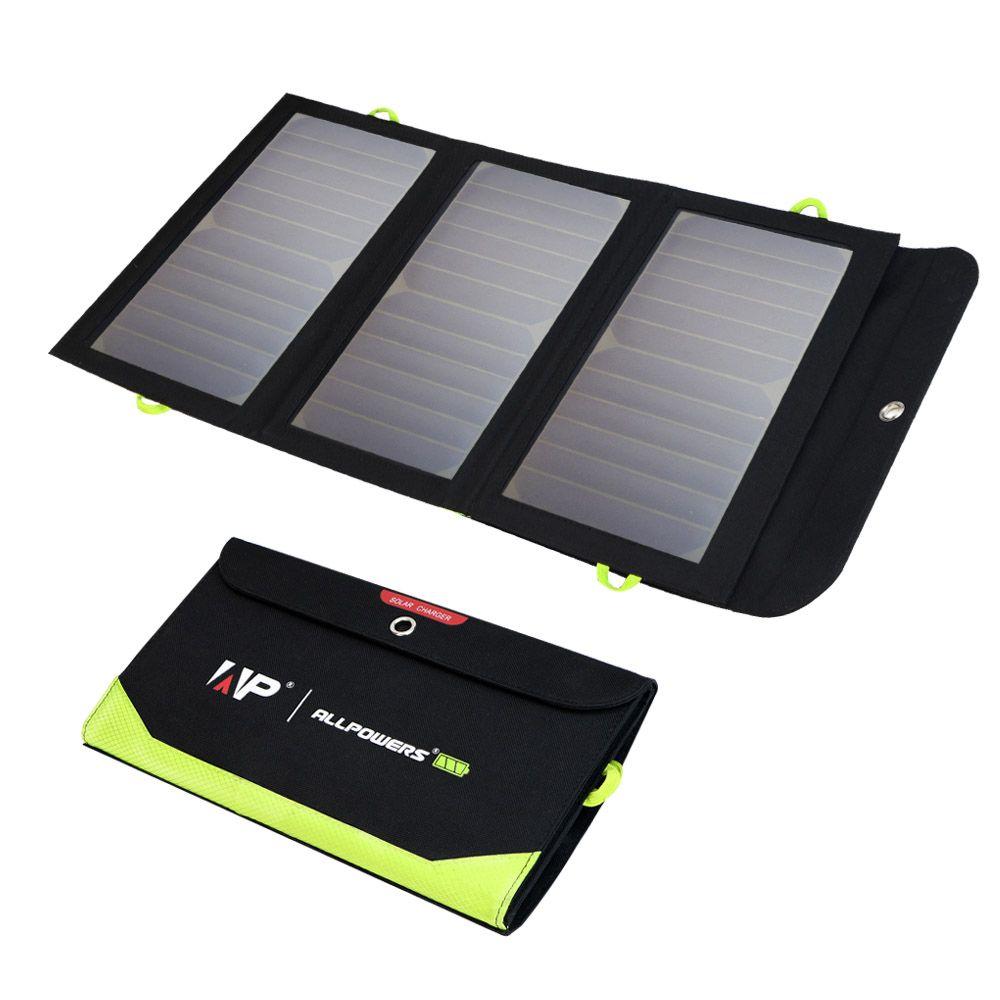 ALLPOWERS Solarstrom-ladegerät 5 V 21 Watt Solar Schnellladung Solar Power für iPhone 5 5 s iPhone SE iPhone 6 6 s 7 7 plus 8 Samsung.