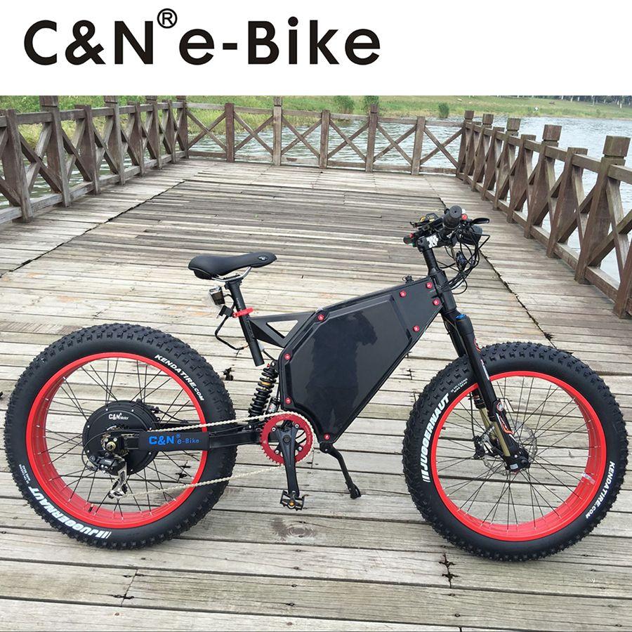 2018 cooles Design 72 v 5000 watt Fett Reifen E-bike Elektrische Mountainbike/Elektrisches Fahrrad/Elektrische fahrrad/Enduro ebike