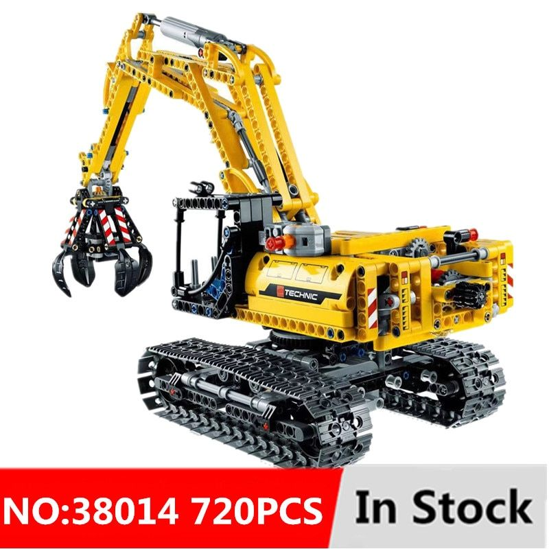 720pcs 2in1 Compatible L Brand Technic Excavator Model Building Blocks Brick Without Motors Set City Kids Toys for children Gift