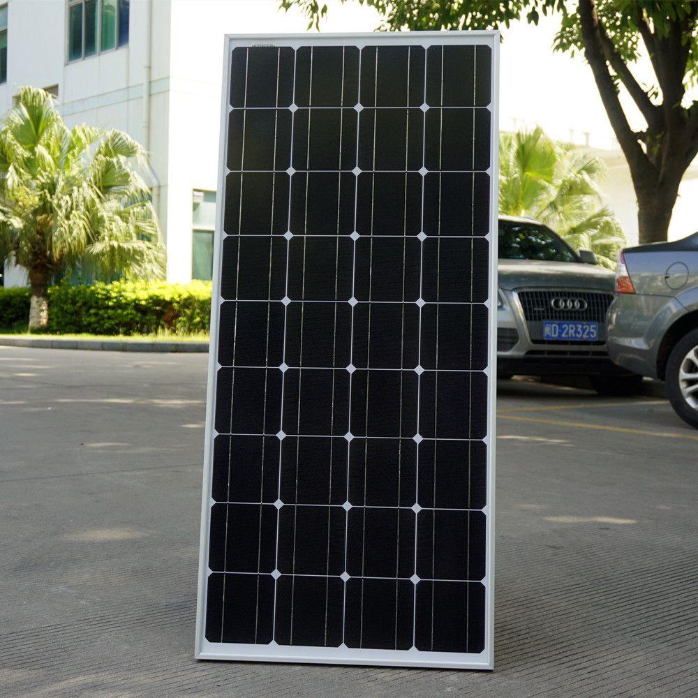 2018 USA Lager 100 Watt Monokristalline Solarmodul für 12 V Batterie RV Boot, auto, hause Solarstrom & Free Verschiffen