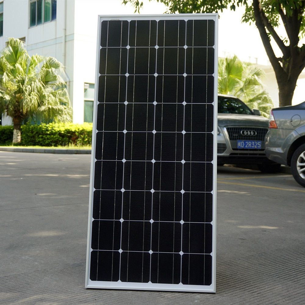 2018 USA Stock 100 W Monocrystalline Solar Panel for 12V Battery RV Boat , Car, Home Solar Power &Free Shipping
