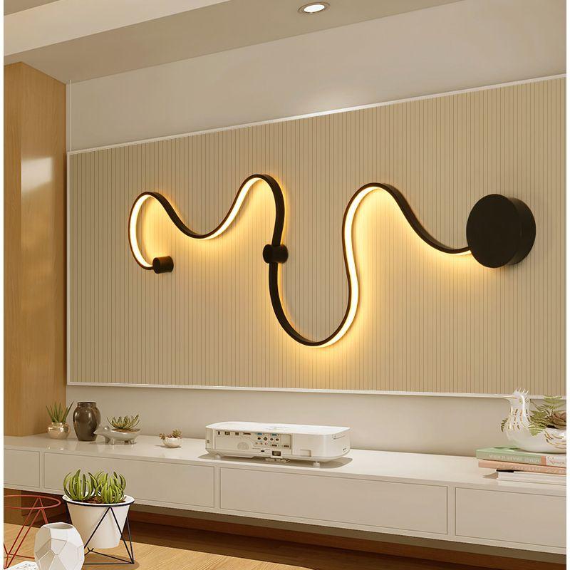 Minimaliste Moderne Led Applique Murale Applique Lampe Murale Pour La Maison Chambre Salon salle De Bain Couloir Hôtel Wandlamp Led Lustres