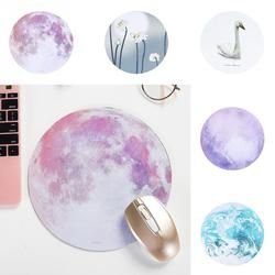 Beautiful Romantic Computer Mouse Padding Mat Ultra Soft Natural Rubber Planet Series Mice Pad Round Gaming Mouse Pads