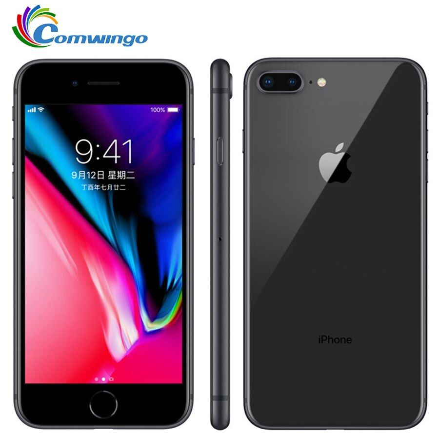 Original Apple iphone 8 Plus 3 gb RAM 64-256 gb ROM Hexa Core Entsperrt iOS 5.5 zoll 12MP Fingerprint 2691 mah LTE Handy