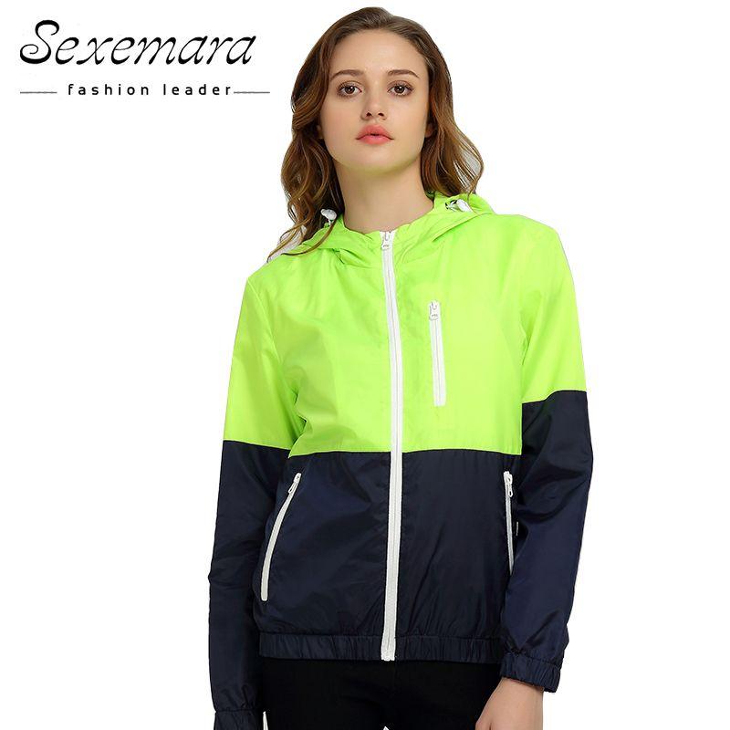 Jackets Women 2018 Autumn New Fashion Jacket Women Hooded basic Jacket Casual <font><b>Thin</b></font> Windbreaker female jacket Outwear Women Coat