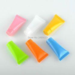 Mini 5 ml/10 ml Lembut Kosong Batal Tabung Krim Kosmetik Pembersih Wajah Tabung Botol Isi Ulang Kontainer Shampoo 100 Pcs/lot
