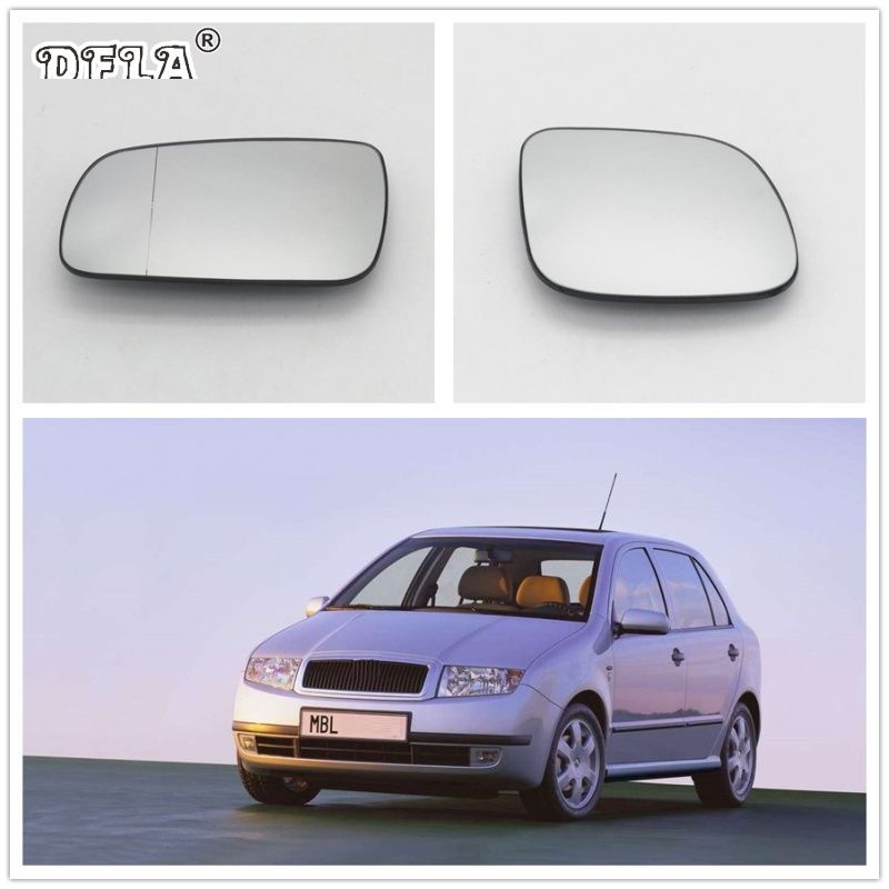 For Skoda Fabia MK1 2000 2001 2002 2003 2004 2005 2006 2007 2008 Car-Styling New Mirror Glass Heated