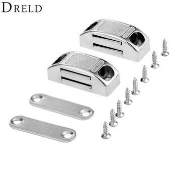 DRELD 2 Pcs 42*17 MM Porte Magnétique Prises Armoire Armoire Magnétique Cabinet Loquet Captures Arrêt Échec Auto-alignement Aimant