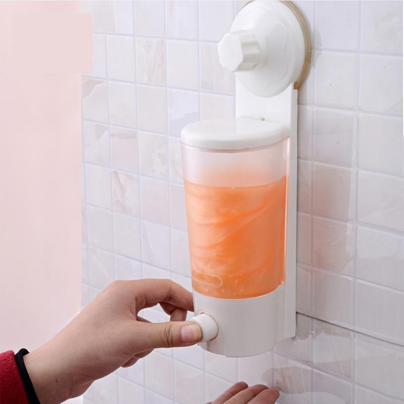 Distributeur de savon liquide à une main avec ventouse forte distributeur de Gel de douche à montage mural