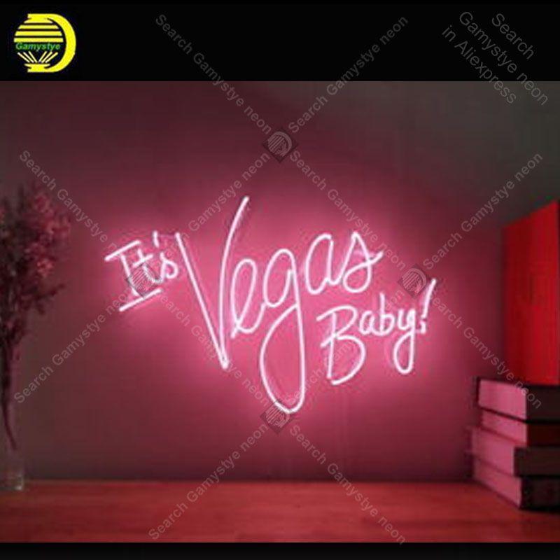 Es der Vegas Baby Neon Zeichen Glas Rohr Handgemachte neon licht Zeichen Erholung hause Schlafzimmer Ikonische Zeichen Neon Licht Decor große Geschenke