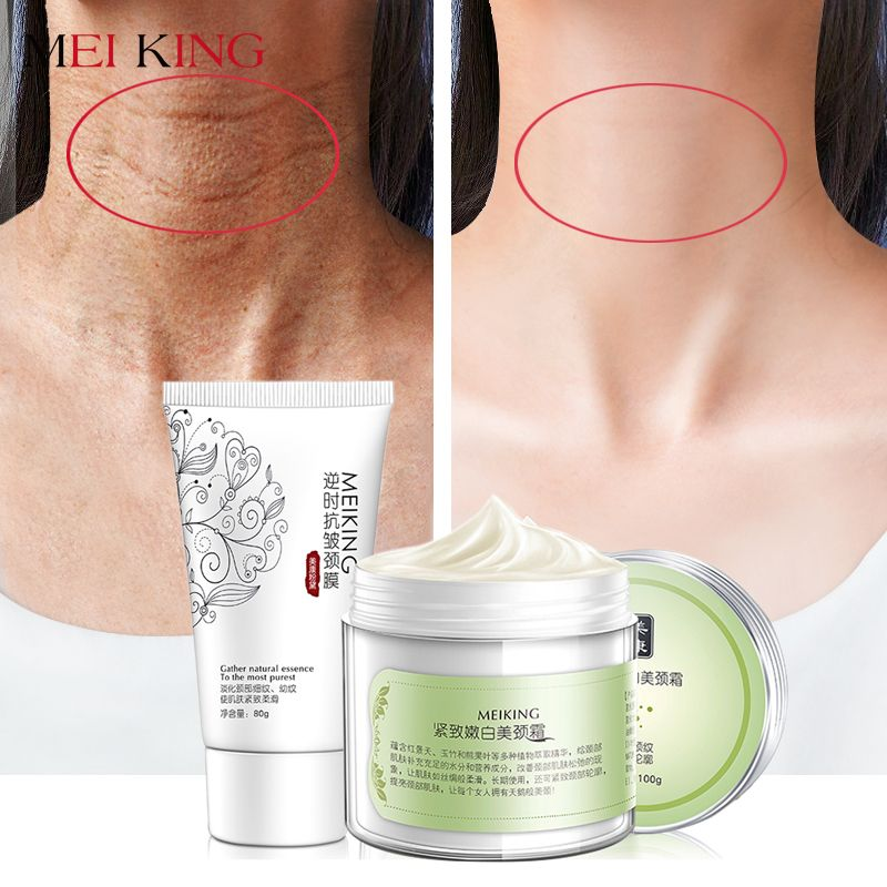 MEIKING <font><b>Neck</b></font> Mask <font><b>Neck</b></font> Cream Skincare Anti wrinkle Whitening Moisturizing Nourishing Firming <font><b>Neck</b></font> Care Set Skin Care Set 180g
