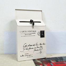Fashion Vintage Tin Kotak Surat Ember Pedesaan Besi Tempa Kotak Surat Surat Kabar Kotak DIY Fotografi Alat Peraga dengan Kunci. D190
