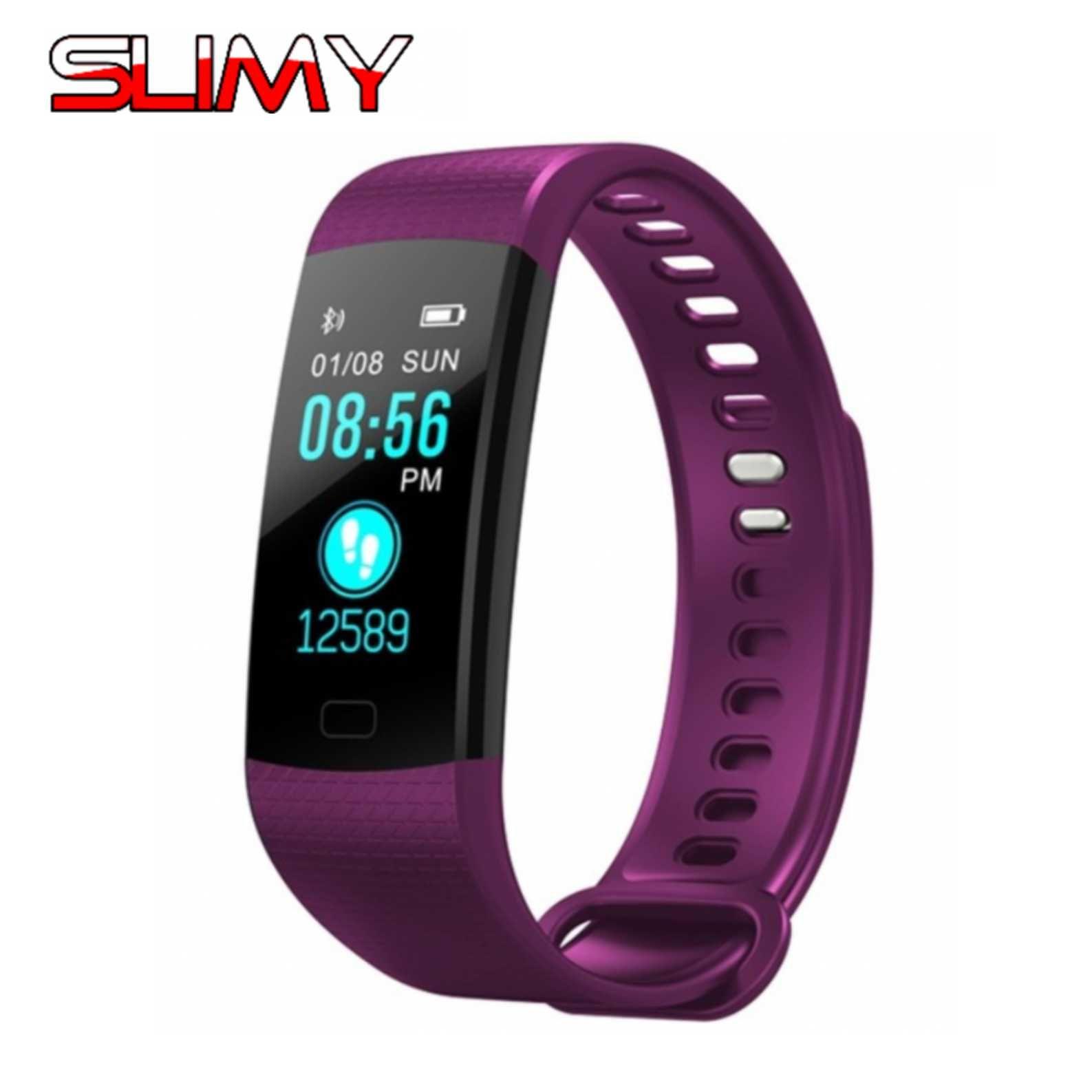 Schleimiges Pulsometer Fitness Smart Armband Y5 Smart Band Aktivität Tracker Schrittzähler Smart Uhr Schwing Wecker Für Xiaomi