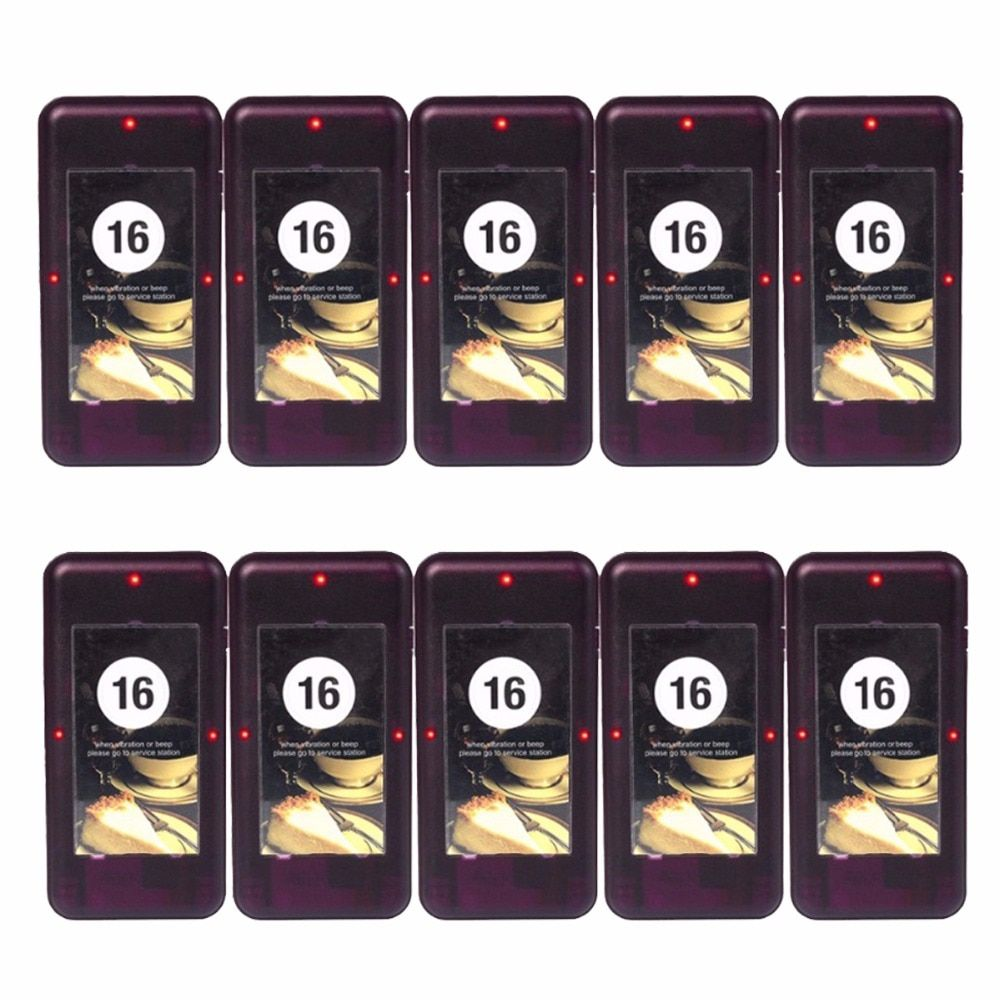 10pcs TIVDIO Restaurant Coaster Pager Receiver Call For 433MHz Wireless Paging Queuing System Waiter Calling System F4420A