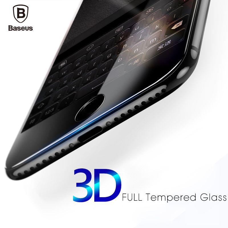 Baseus 3D Arc Pleine Courbe Écran Protecteur En Verre Trempé pour iphone 6 7 Plus Verre Protection Flim pour l'iphone 6 s 7 Écran Film