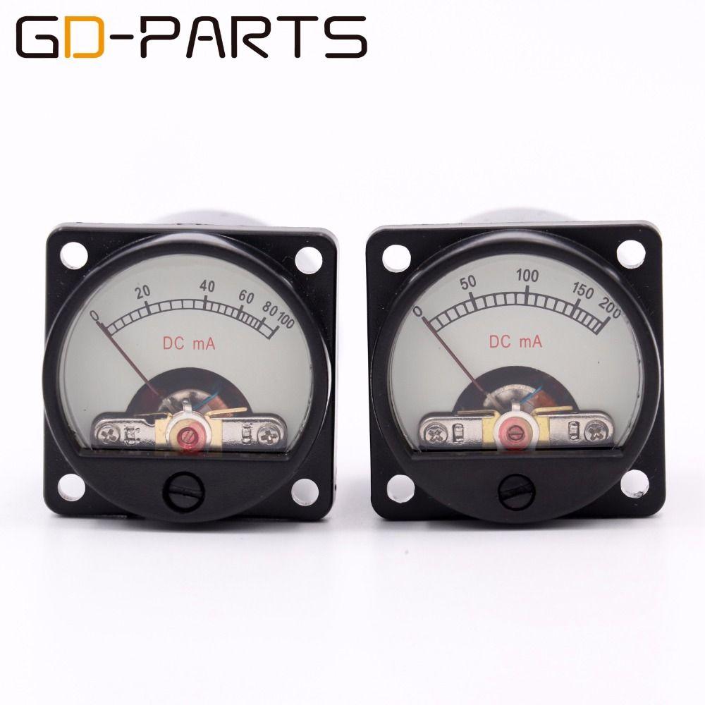 GD-PARTS 35mm DC100mA DC200mA Milliampere Panel Meter Mit 12 v Warm Zurück Licht Für 2A3 300B KT88 EL34 Hifi vintage Rohr AMP DIY