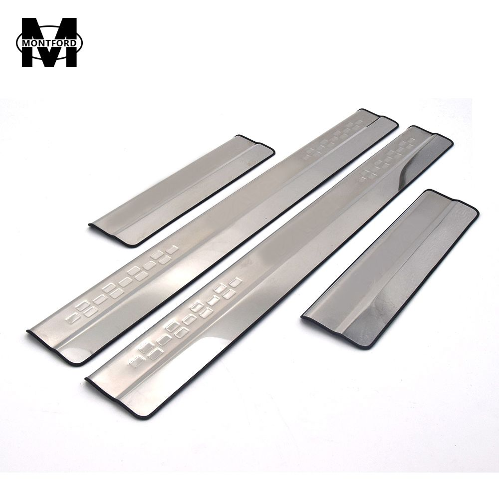 MONTFORD Car Styling For Toyota <font><b>RAV4</b></font> RAV 4 2013 2014 2015 2016 2017 Stainless Steel Door Sill Protector Pedal Scuff Plate Cover