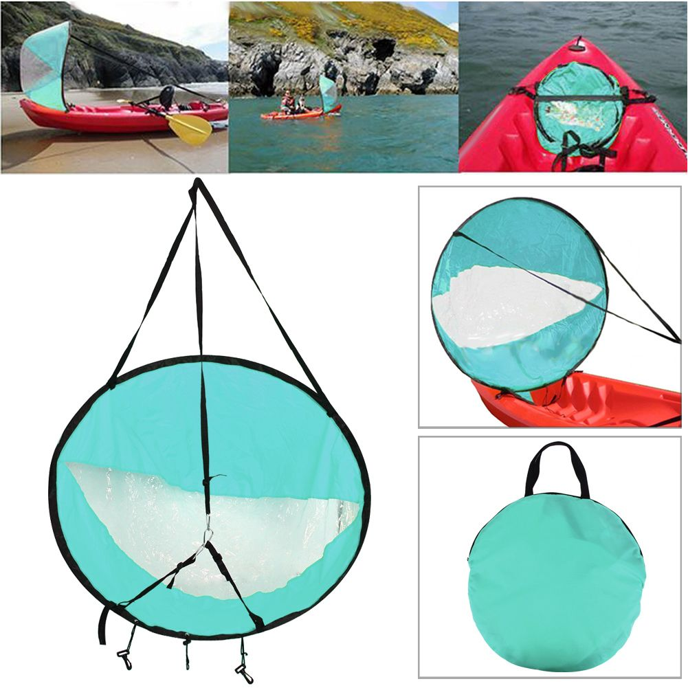 Drop shipping Durable 42 <font><b>Kayak</b></font> for fishing sailing boat accessories marine Wind Sup Paddle Board Sail with clear window