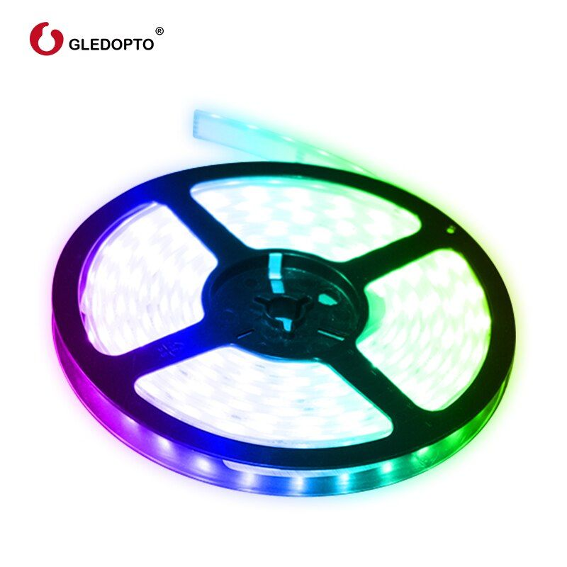 G LED opto RVB + CCT LED bande lumineuse rvb ww/cw DC12-24V 5 mètres ip65 imperméable ip20 non étanche rvb lumière SMD 5050 SMD 2835
