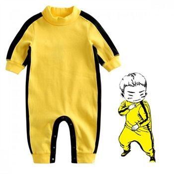 2018 barboteuse bébé garçons vêtements nouveau-né garçons Bruce Lee Kung Fu combinaison tenue bébé vêtements coton tissu garçon 3 M-4 T