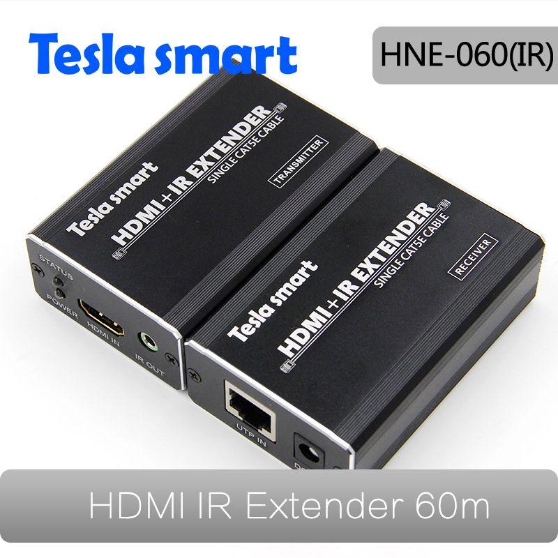 200ft/60 mt HDMI Extender Über single-wire CAT5e/6 Extender Stecker mit ir-fernbedienung Unterstützung HDTV 1080 P HDCP