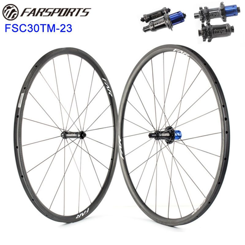 Top wheelset with super performance Tune road hubs original from Germany 30mm x 23mm tubular rims super light wheels 1020g