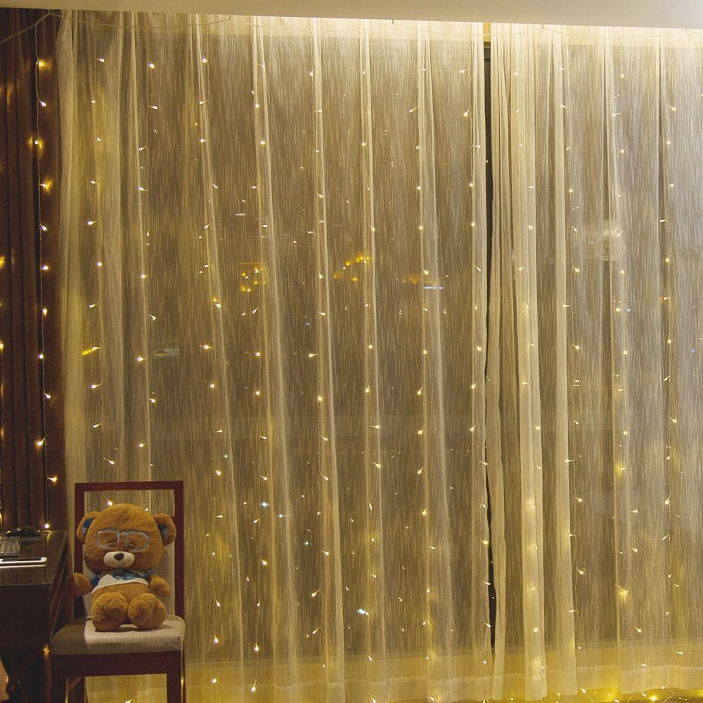 3x3m led icicle Window Curtain String Lights 300 LED Christmas lights for Wedding Party Home Garden Bedroom Wall Decorations