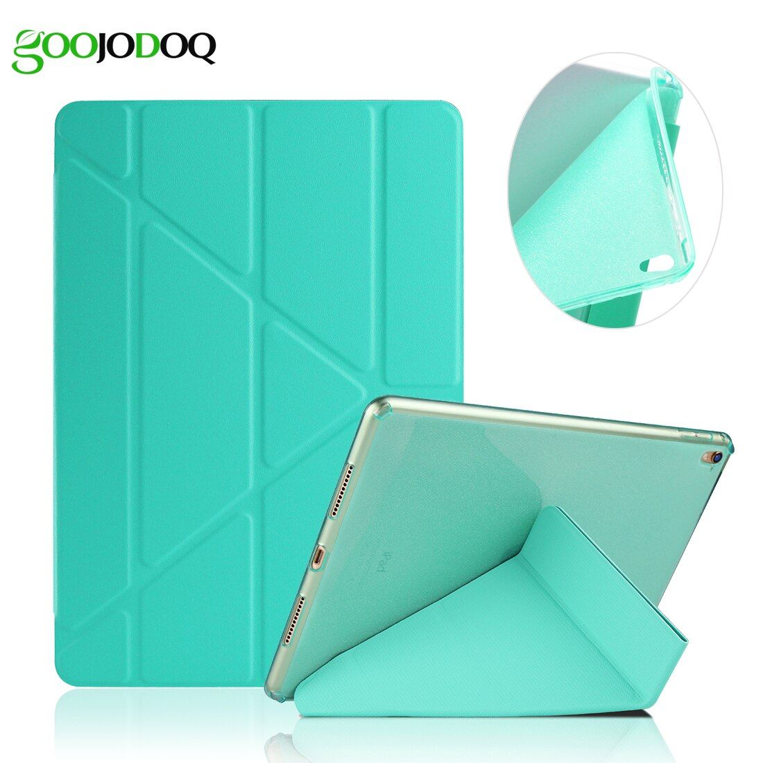 Case For iPad Pro 9.7 / iPad 2 3 4 PU Leather Smart Cover, [Multiple Stand + Glitter Silicone Soft Back] for iPad 4 Case