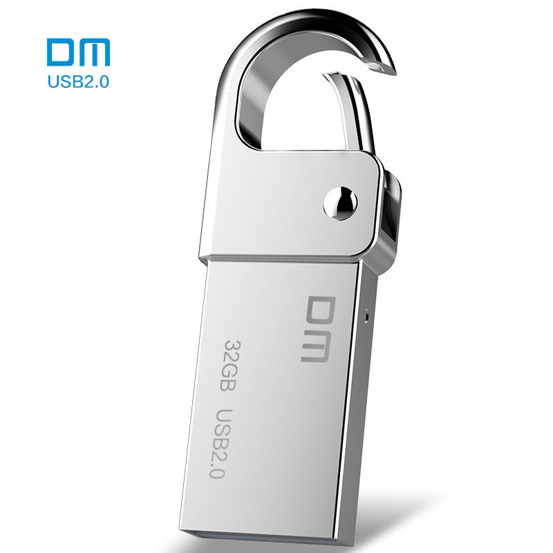Livraison gratuite DM PD027 8G 16G 32 GB USB Flash Drive Métal Pen Drive Key Ring Étanche USB Bâton Pendrive Flash Drive Métal
